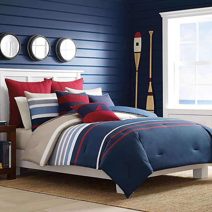 Alternate image 1 for Nautica® Bradford Duvet Cover Set