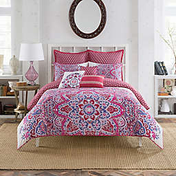Anthology™ Kaya Reversible Twin Comforter Set in Berry