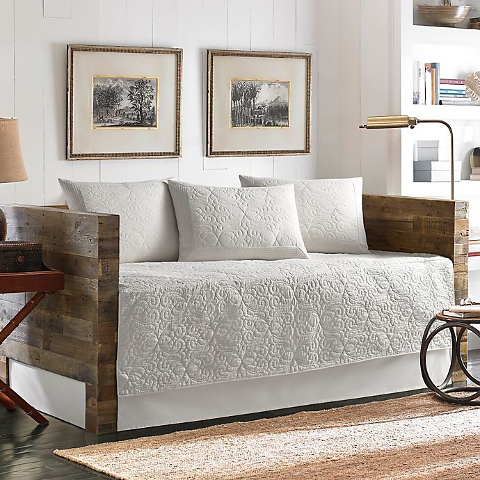astounding tommy bahama bedroom furniture white | Tommy Bahama® Nassau Quilted Daybed Bedding Set in White ...