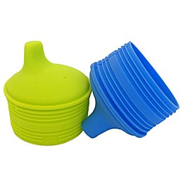 Silikids® Siliskin® 2-Pack Reusable Silicone Sippy Tops in Lime/Aqua