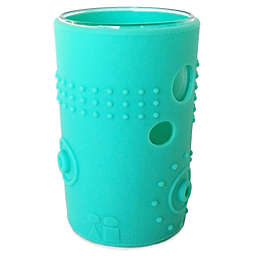 Silikids® Siliskin® 6 oz. Glass Cups in Aqua (Set of 2)