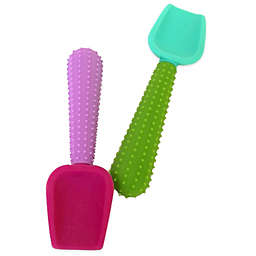 Silikids® 2-Pack Silicone Feeding Spoons™ in Purple/Green