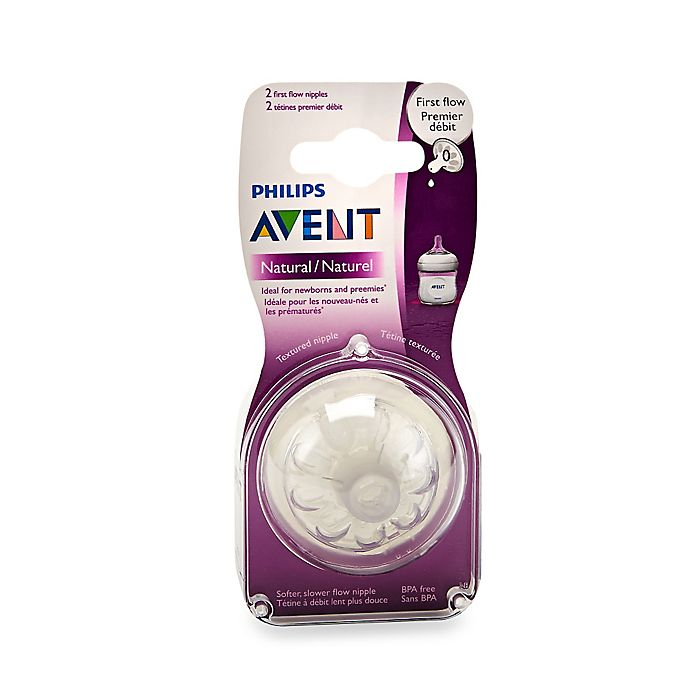 Philips Avent Natural 2-Pack First Flow Nipples