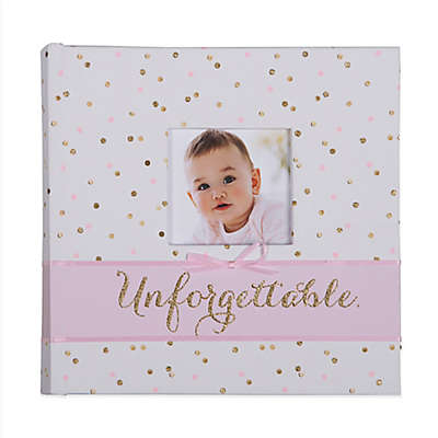 "carter's® Sweet Sparkle ""Unforgettable"" Photo Journal Album in Pink"