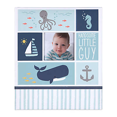 "carter's® Under The Sea ""Handsome Little Guy"" Loose Leaf Memory Book in Blue"