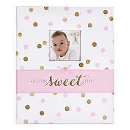 "carter's® Sweet Sparkle ""Welcome Sweet Baby"" Loose Leaf Memory Book in Pink"