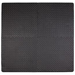 Tadpoles™ by Sleeping Partners 4-Piece Steel Plate Play Mat in Black