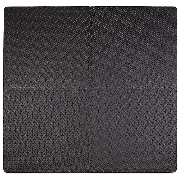 Alternate image 1 for Tadpoles™ by Sleeping Partners 4-Piece Steel Plate Play Mat in Black