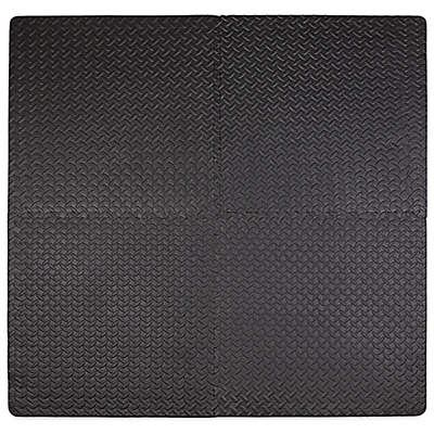Tadpoles™ by Sleeping Partners 4-Piece Steel Plate Play Mat in Black
