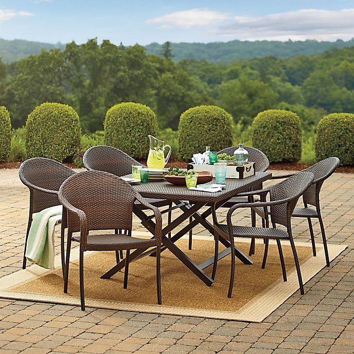 Barrington Wicker Dining Table And Chairs