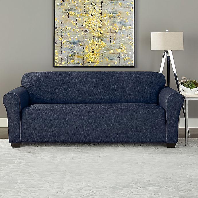 Magnificent Sure Fit Designer Denim Furniture Slipcover Bed Bath Beyond Short Links Chair Design For Home Short Linksinfo