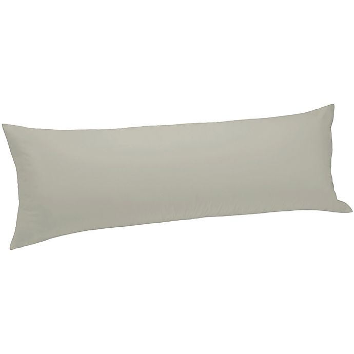 Alternate image 1 for Bedding Essentials™ 300-Thread-Count Body Pillow Protector in Taupe