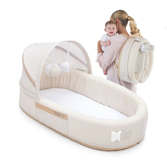 Alternate image 1 for LulyBoo® Baby Lounge To-Go Travel Bed in Natural