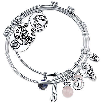 """Shine Charm Bangles """"A Mother Holds Her Child"""" Value Set of 3"""