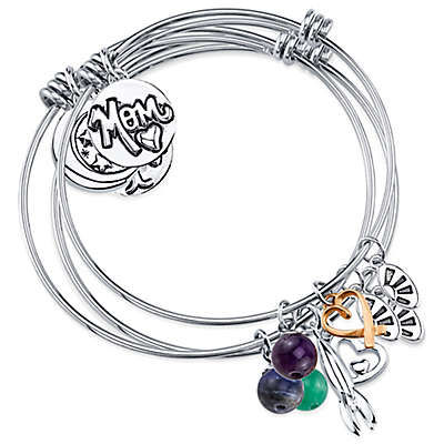 "Shine Charm Bangles ""Mom Always on My Mind"" Value Set of 3"