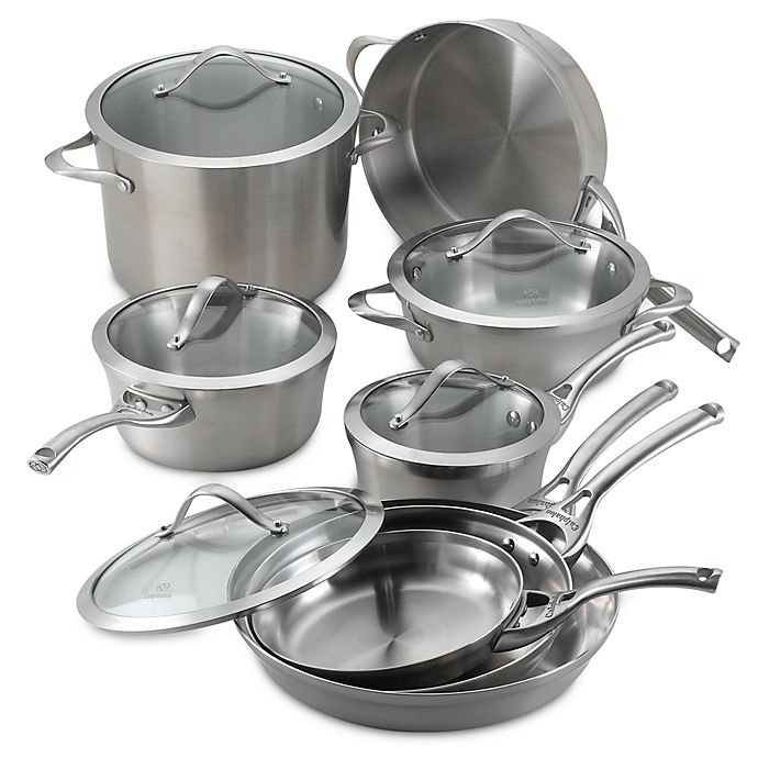 Alternate image 1 for Calphalon® Contemporary Stainless Steel 13-Piece Cookware Set