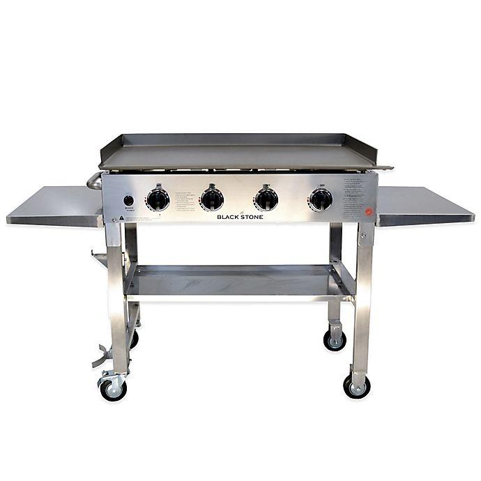 Alternate image 1 for Blackstone�� 1560 Stainless Steel 4-Burner Griddle Gas Cooking Station