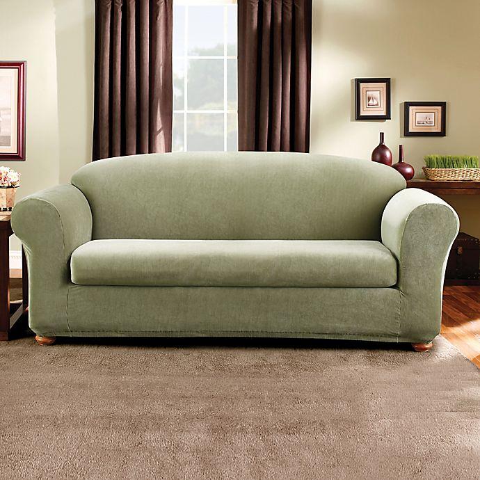 Sure Fit® Madison Stripe 2-Piece Sofa Slipcover
