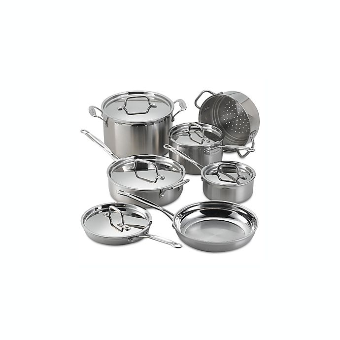 Alternate image 1 for Cuisinart® MultiClad Pro Stainless Steel 12-Piece Cookware Set