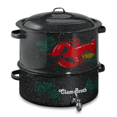 Granite Ware 19 Quart Decorated Clam And Lobster Steamer
