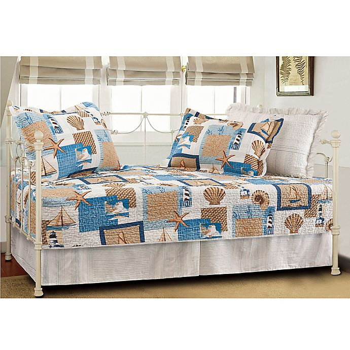 Alternate image 1 for Beachcomber Coastal Quilted Reversible Daybed Bedding Set