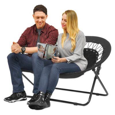 Idea Nova Double Saucer Folding Chair In Black Bed Bath