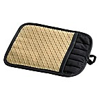 Silicone Quilted Pot Holder in Biscotti