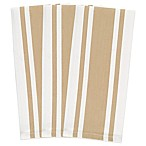 Heavyweight Striped Kitchen Towels in Biscotti (Set of 3)