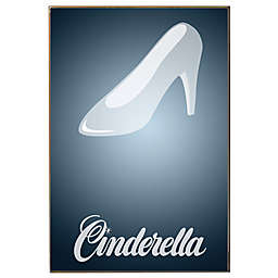 Disney Cinderella Glass Slipper Movie Poster Wall Décor Plaque