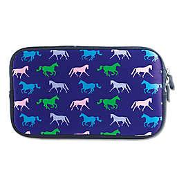 Tek Trek Neoprene Zipper Bag with Galloping Horses Graphic
