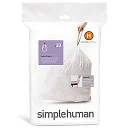simplehuman® Code H 20-Pack 30-35-Liter Custom-Fit Liners