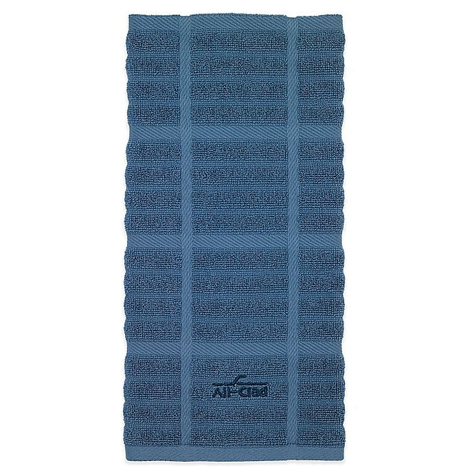 Alternate image 1 for All-Clad Solid Kitchen Towel in Cornflower