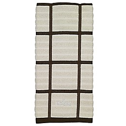 All-Clad Plaid Kitchen Towel in Almond