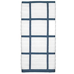 All-Clad Silicone Plaid Kitchen Towel in Cornflower