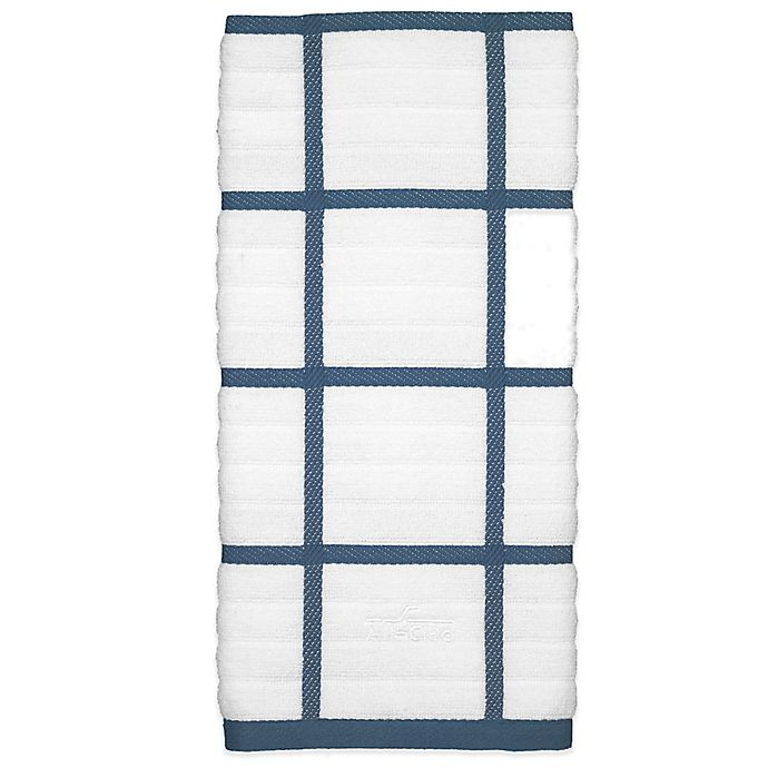 Alternate image 1 for All-Clad Silicone Plaid Kitchen Towel in Cornflower