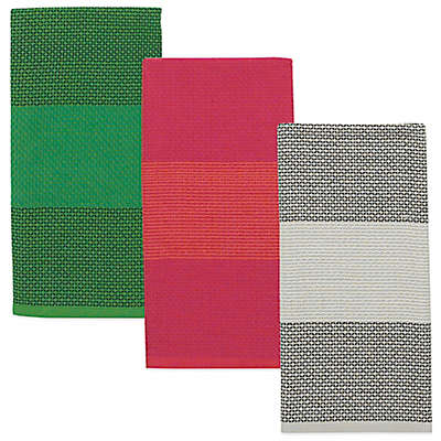 kate spade new york Color Block Honeycomb Kitchen Towel