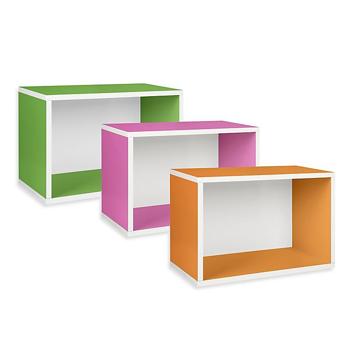 Alternate image 1 for Way Basics Tool-Free Assembly Stackable Rectangle Storage Shelf and Bookcase