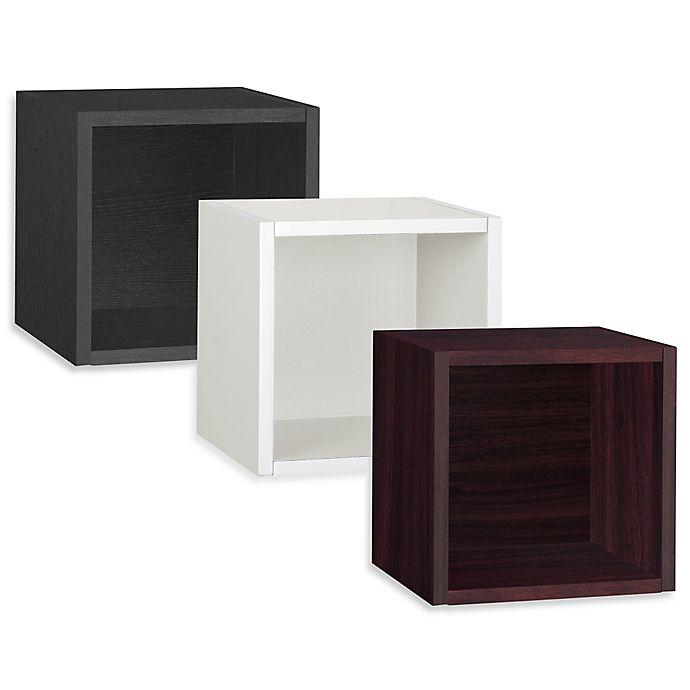 Alternate image 1 for Way Basics Wall Cube zBoard paperboard Floating Shelf