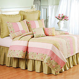 Amberly Quilt in Green/Pink