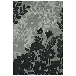 Feizy Floral Rug in Grey