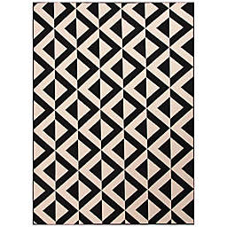 Jaipur Marquise Indoor/Outdoor Rug in Ivory/Black