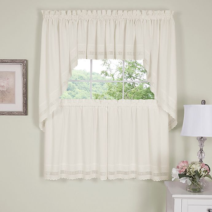 Alternate image 1 for Danielle Embroidered Eyelet Window Tiers