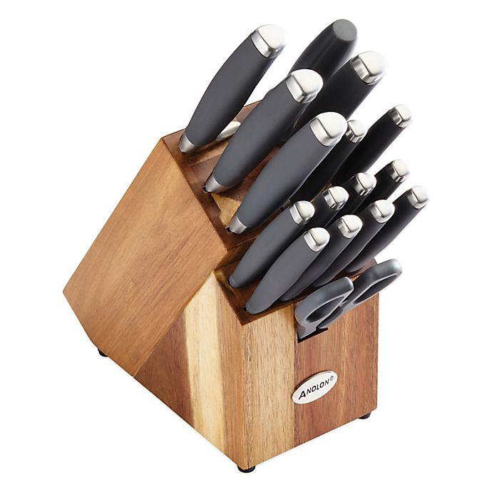 Alternate image 1 for Anolon® SureGrip™ 17-Piece Cutlery Set