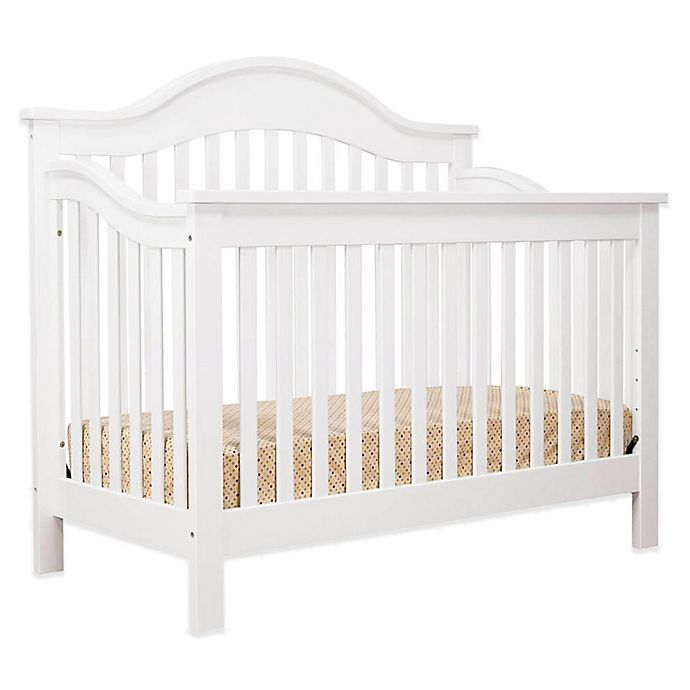 Alternate image 1 for DaVinci Jayden 4-in-1 Convertible Crib in White