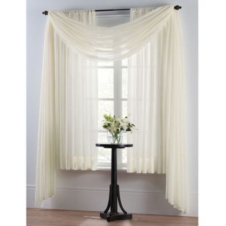 Insulating Voile Window Curtain Panel