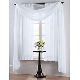 Smart Sheer™ Insulating Voile 84-Inch Window Curtain Panel in White