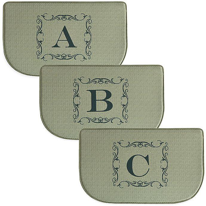 Bacova 18-Inch x 30-Inch Burlap Letter Memory Foam Kitchen Rug