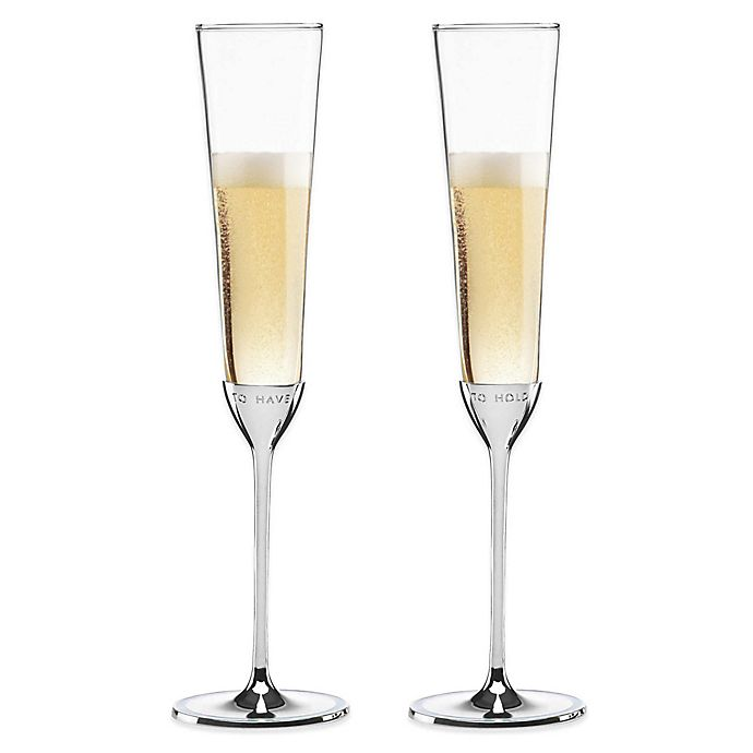 Alternate image 1 for kate spade new york Take the Cake™ Toasting Flutes (Set of 2)