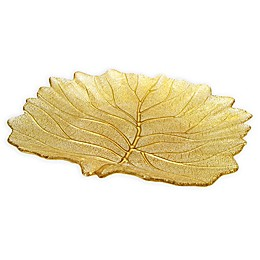 Classic Touch Trophy Leaf Dish in Gold