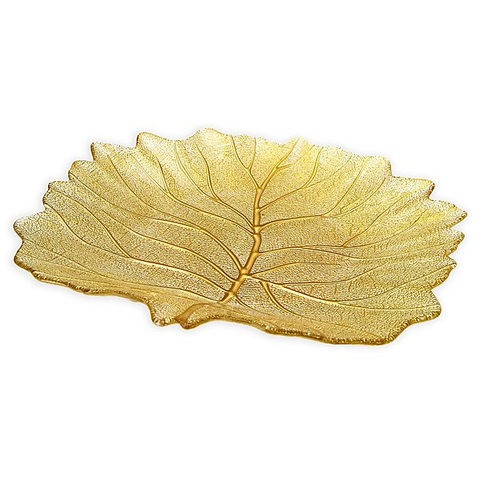 Alternate image 1 for Classic Touch Trophy Leaf Dish in Gold
